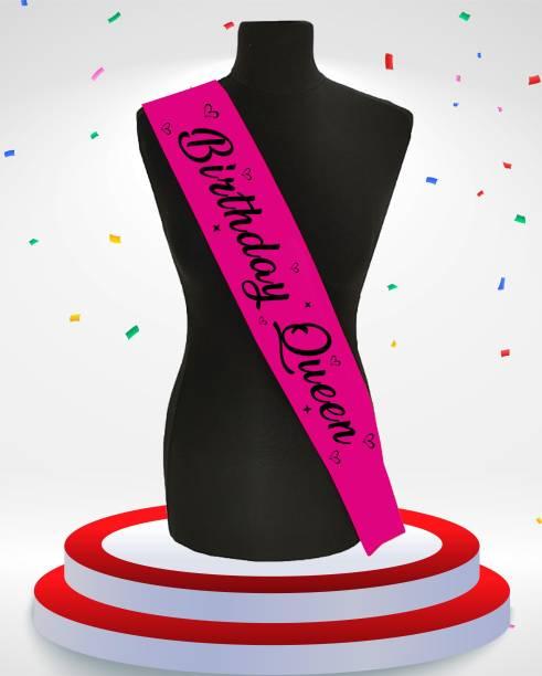Style Secrets Shimmering Satin Magenta Birthday Queen Sash for Birthday Girls, Babies and Ladies