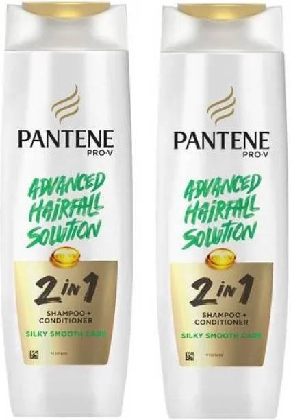 PANTENE Shampoo + Conditioner Silky Smooth Care Shampoo 340 Ml *2Pcs