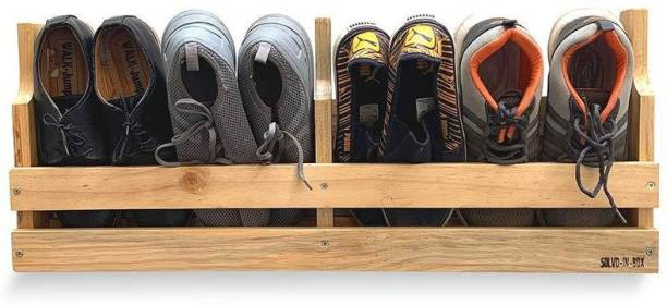 Solvd-in-box Shoery Shoe Stand,Multipurpose Floating Stand Foyer Rack Solid Wood Shoe Stand