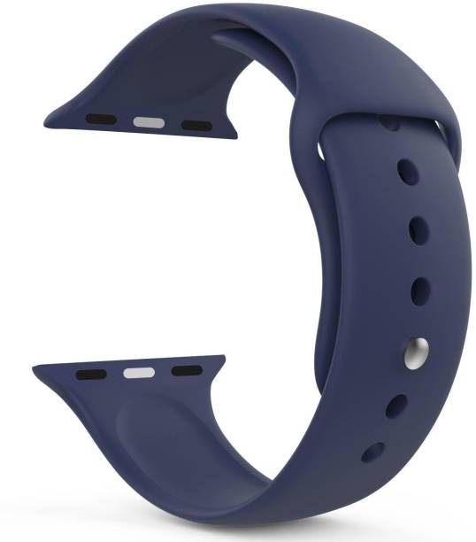 TECHWIND Soft Silicon APLE Watch Strap for Series 6/5/4/3/2/1 Fits in 42/44 MM (NAVY BLUE) Smart Watch Strap