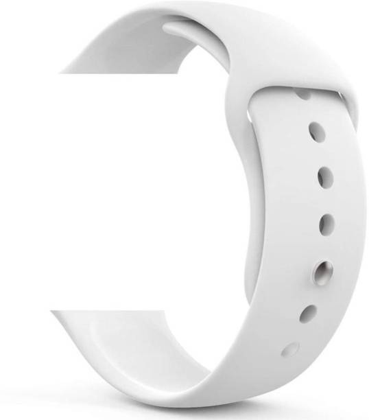 TECHWIND Soft Silicon APLE Watch Strap for Series 6/5/4/3/2/1 Fits in 42/44 MM (WHITE) Smart Watch Strap