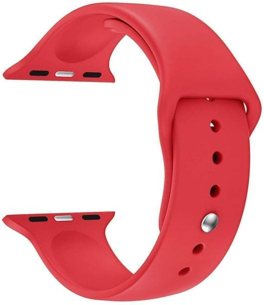 TECHWIND Soft Silicon APLE Watch Strap for Series 6/5/4/3/2/1 Fits in 42/44 MM (RED) Smart Watch Strap