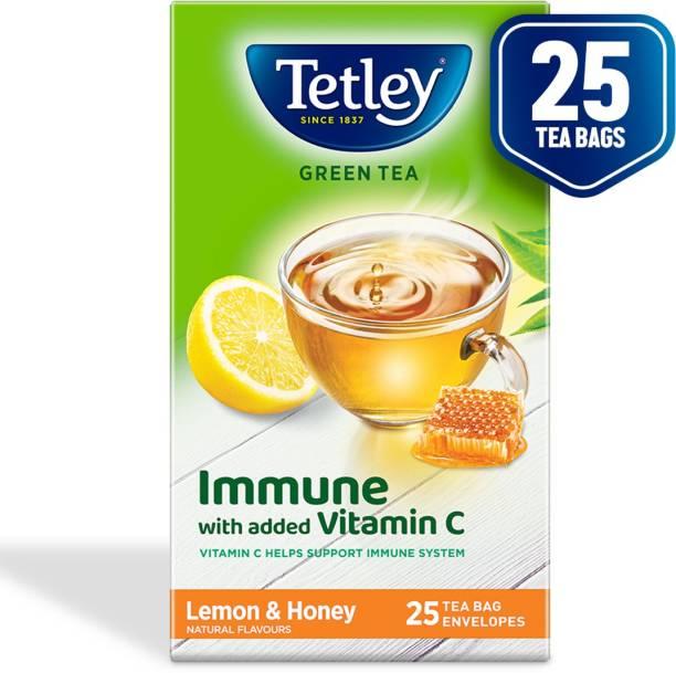 tetley Lemon Green Tea Bags Box