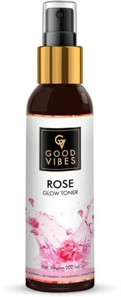GOOD VIBES Rose Skin Glow Toner (200 ml) Men & Women