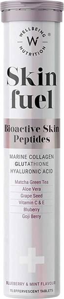 Wellbeing Nutrition Skin Fuel | Collagen Builder, L-Glutathione, Hyaluronic Acid|Skin Glow-Pack of 1