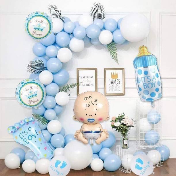 CherishX.com Solid Baby shower Decoration Items - 36 Items - Baby balloon, round shape balloon, feet balloon, bottle balloon Pastel Balloon Balloon Bouquet