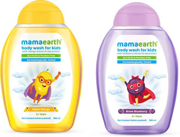MamaEarth Mango + Blueberry Body washes for Kids(300ml x 2)