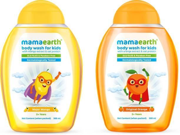 MamaEarth Orange + Mango Body washes for Kids(300ml x 2)