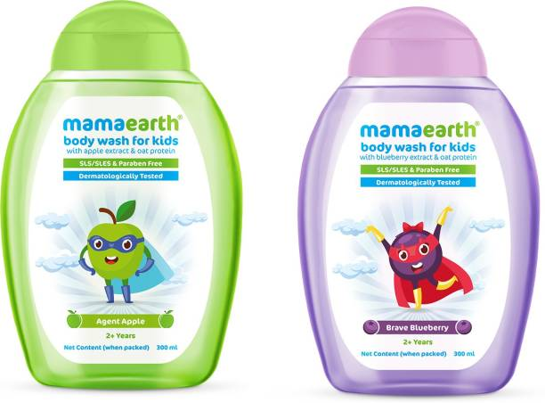 MamaEarth Apple + Mango Body washes for Kids(300ml x 2)