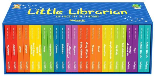 My First Learning Library 24 board book set- First Learning Library of 24 Board Books to Develop Basic Concepts for Little Scholars. Well-Researched Pictures Ensure Faster Development of a Child's Vocabulary