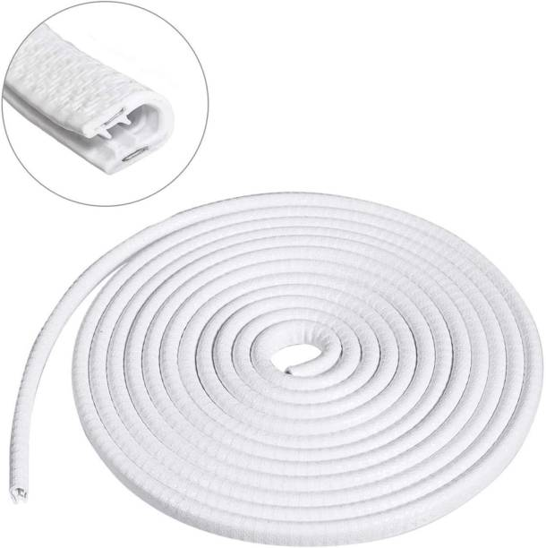 FAPA Car U Shape Edge Trim Rubber Strip Seal Protector Car Door Edge Guards (16 ft/5 m, White) Compatible with Cars Car Beading Roll For Door, Window