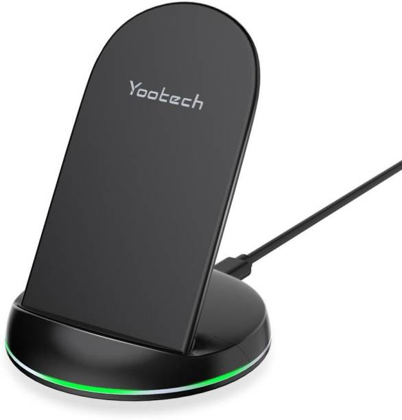 Yootech 10W Upgraded Type-C Interface Fast Wireless Charger Stand Qi-Certified Charging Pad
