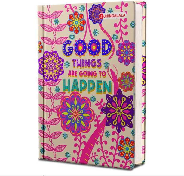 Jhingalala Good Things Hard Bound Undated A5 Diary Notebook (20 X 14.5 CM, 80 GSM, 190 Ruled Perforated Pages) Diary for Writing, Gift for Friend, Personal Diary A5 Diary Ruled 190 Pages