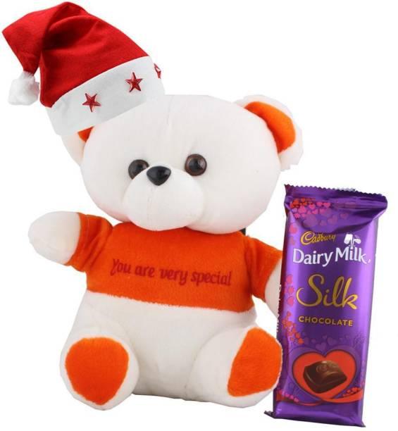 Cadbury Dairy Milk Silk Chocolate With Cute Teddy | Chocolate Gift For Christmas | 384 Combo