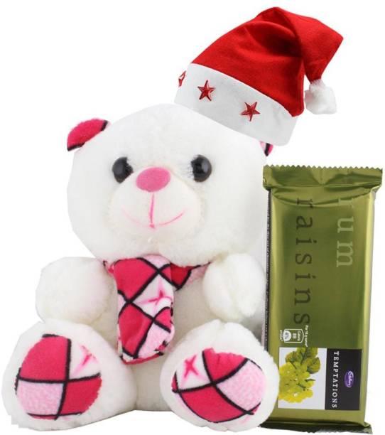 Cadbury Temptation Chocolate With Cute Muffler Teddy | Chocolate Gift For Christmas | 383 Combo