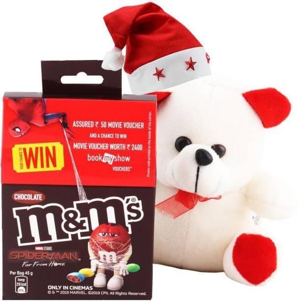 Cadbury M & M Chocolates With Cute Teddy | Chocolate Gift For Christmas | 511 Combo