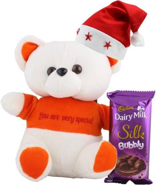 Cadbury Dairy Milk Silk Bubbly With Cute Teddy | Chocolate Gift For Christmas | 386 Combo