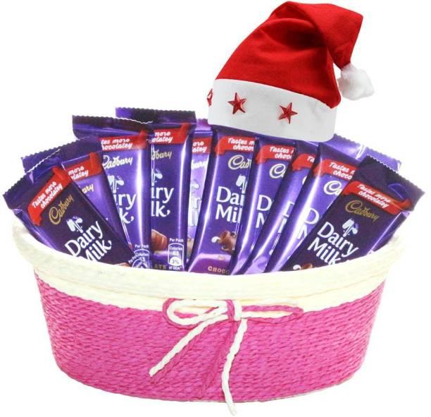Cadbury Delicious Dairy Milk Chocolate Gift Basket | Chocolate Gift For Christmas | 140 Combo