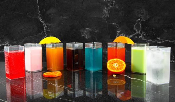 Skymax (Pack of 8) UNBREAKABLE BIG SIZE SQUARE PATTERN WATER, JUICES, GLASS SET OF 8 Glass Set
