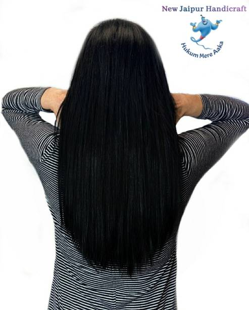 New Jaipur Handicraft Hukum Mere Aaka 24 inch Natural  Extension for Women / Synthetic Straight  Extension Hair Extension