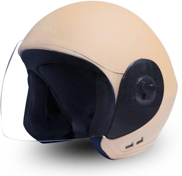 GoMechanic Anymal Series- LEO Open Face with Clear Visor Motorbike Helmet