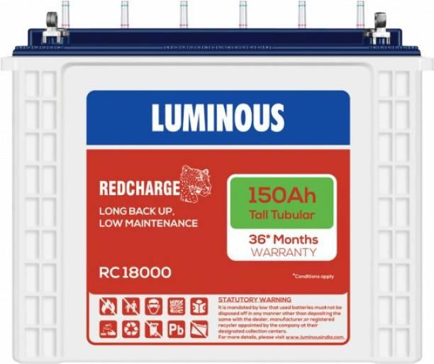 LUMINOUS RedCharge RC18000 150Ampere per hours(Ah) Tall Tubular Battery Tubular Inverter Battery
