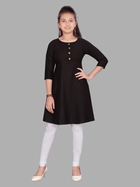 Aarika Girls Solid Straight Kurta