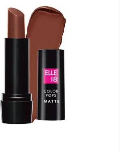 ELLE 18 Color Pops Matte Lip Color-BELGIAN BROWN-B43