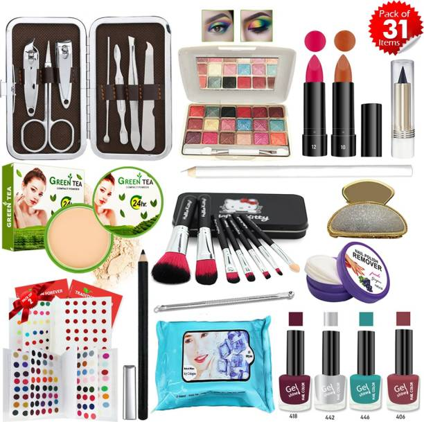 AQVAL Glowing Makeup Kit Of 31 Items401302021A3