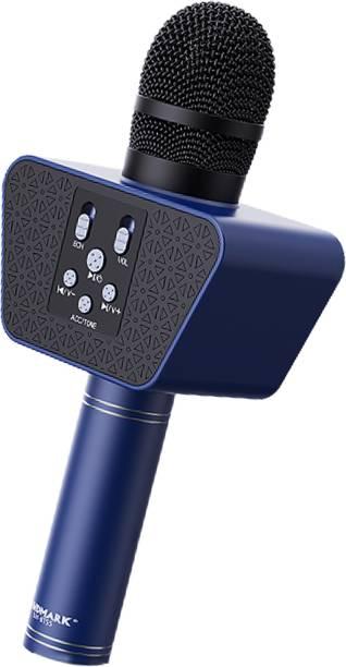 LANDMARK Karaoke BT-55 Mic, Microphone & Inbuilt 1 Bluetooth Speaker - Blue Microphone