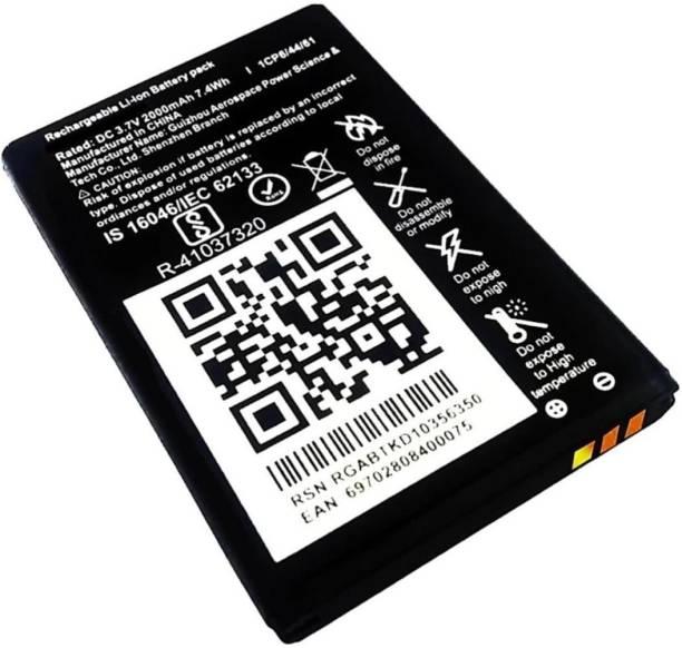 TokTon Mobile Battery For  LYF Jio F220B 2000mAh