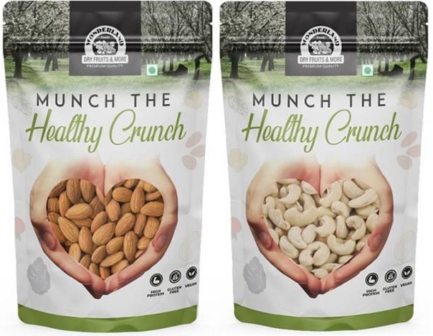 WONDERLAND Almond 500g And Cashew 500g Almonds