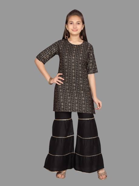 Aarika Indi Printed Kurta, Sharara & Dupatta Set