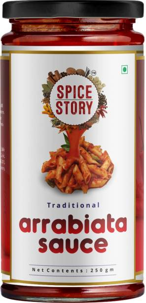 Spice Story Arrabiata Red Pasta Sauce with Tomato and Basil, Gourmet Style, Ready to use - 250gm Sauce