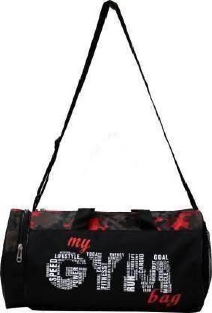 EMMCRAZ Multi-Purpose MY GYM BAG (Kit Bag) (Black, Kit Bag)