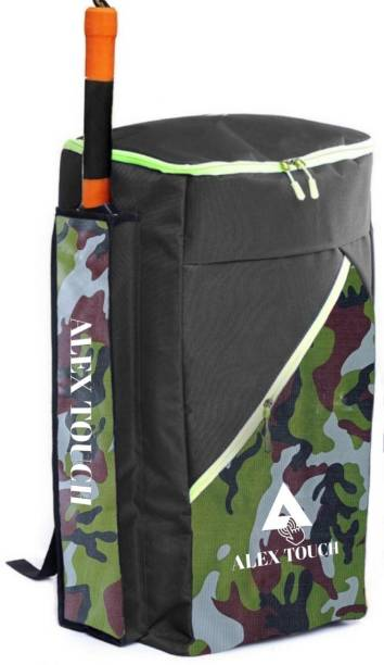 ALEXTOUCH CRICKET KIT BAG SHINNING ARMY PADDED ONE SIDE BAT (ARMY PATTERN)
