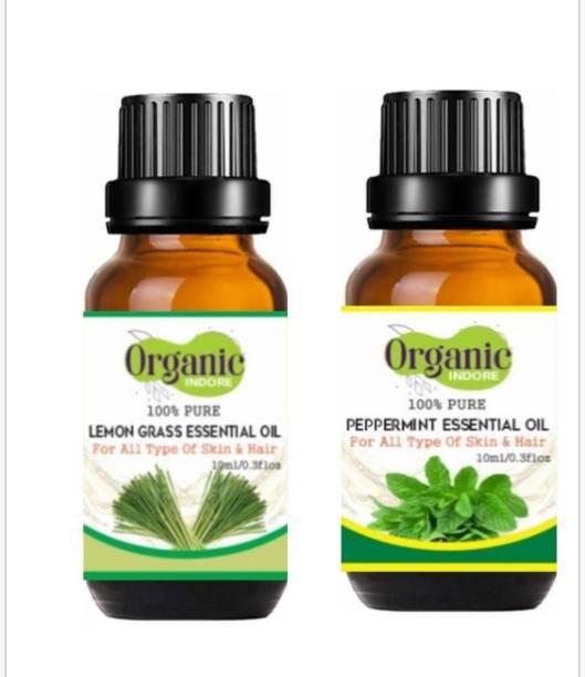 OrganicIndore Peppermint oil and Lemongrass oil