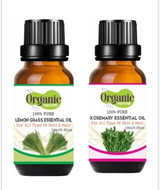 OrganicIndore Rosemary oil and Lemon grass oil