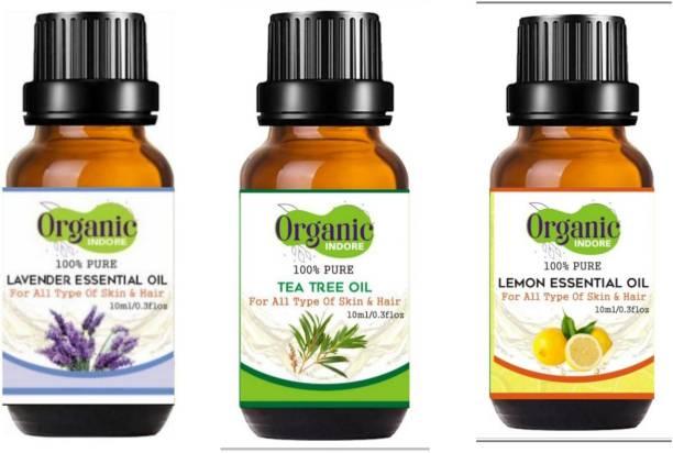 OrganicIndore Tea tree oil , Lavender oil And Lemon oil
