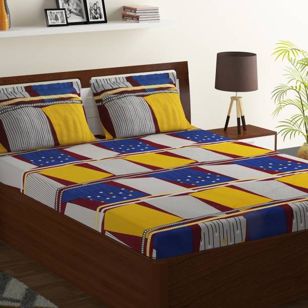 Bombay Dyeing 104 TC Polyester Double Printed Bedsheet