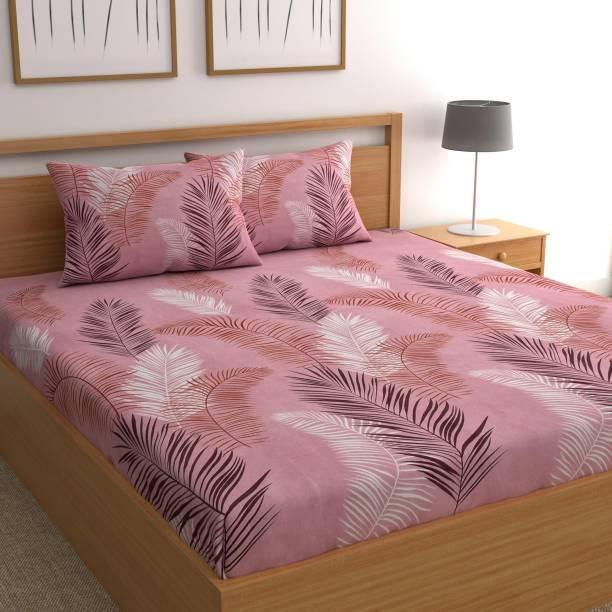 CHHAVI INDIA 120 TC Microfiber Double Printed Bedsheet