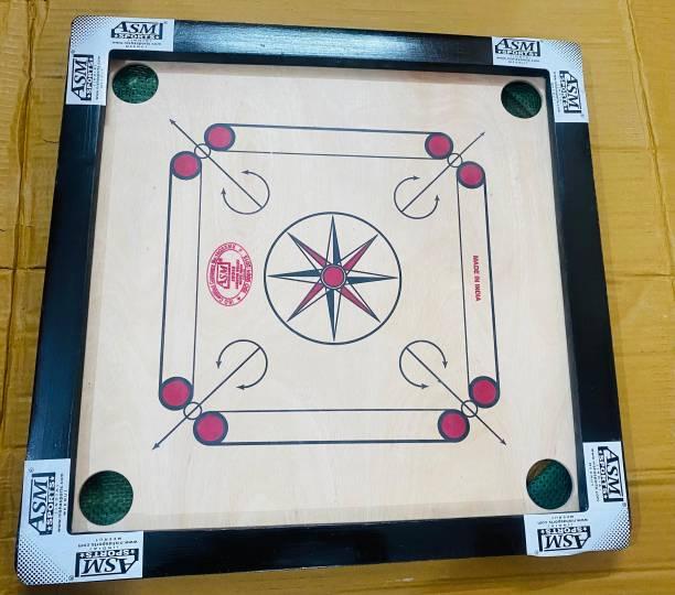 TYF Matte Finish Round Small Carrom Board with Coins Striker Powder (20 x 20 Inch) 50 cm Carrom Board