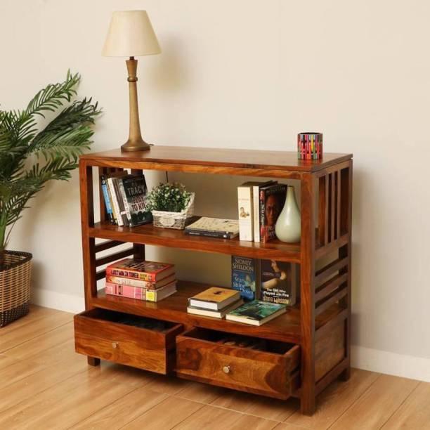 Flipkart Perfect Homes EVA-BS-NT-PH Solid Wood Open Book Shelf