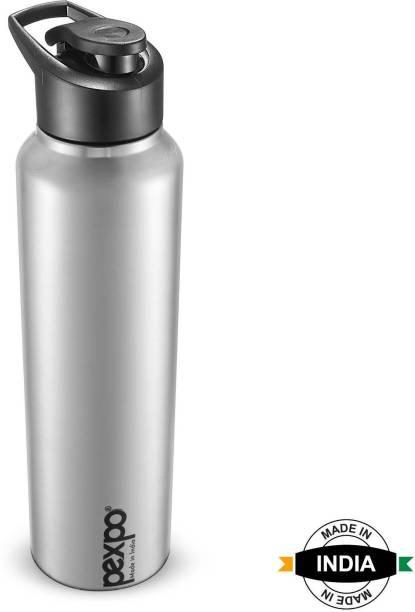 Pexpo Stainless Steel Bottles by PEXPO Chromo 1000 ML Stainless Steel Sports Bottle Steel Finish 1000 ml Bottle