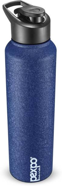 Pexpo Stainless Steel Bottles Chromo 1000 ML Stainless Steel Sports Bottle 3X Durable Blue Colour 1000 ml Bottle