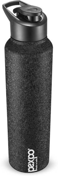 Pexpo Stainless Steel Bottles Pexpo Chromo 1000 ML Stainless Steel Sports Bottle 3X Durable Black Colour 1000 ml Bottle