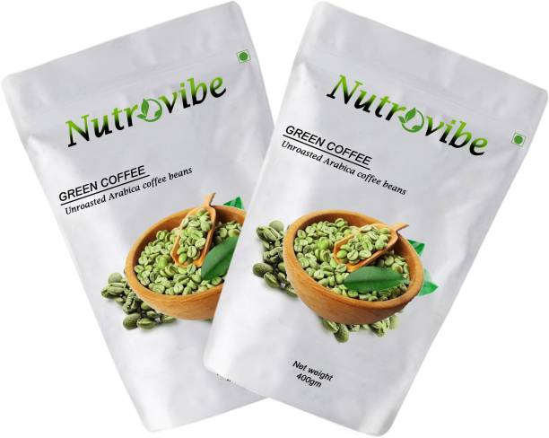 Nutrovibe Green Coffee Beans for Weight Loss fast Unroasted Arabica Natural Immunity Booster (green coffee beans) Instant Coffee
