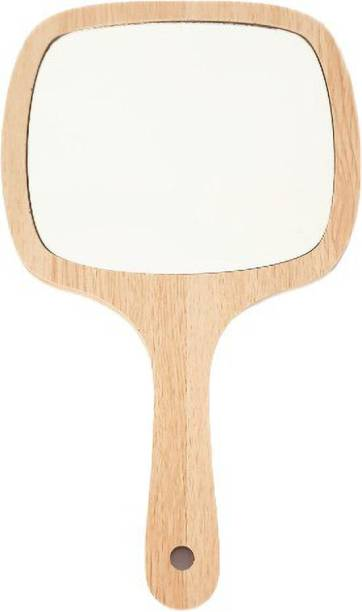 Tiamo Rectangle Wooden Mirror for makeup shaving and daily grooming