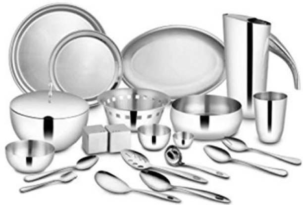 Shri & Sam Pack of 72 Stainless Steel Majestic Dinner Set