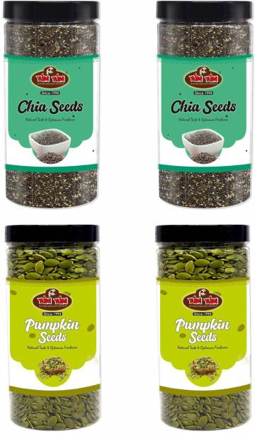 YUM YUM Raw Chia Seeds and Raw Pumpkin Seeds